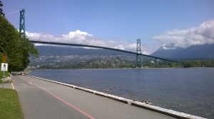 View of the Lions Gate Bridge from Stanley Park
