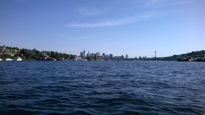 view of downtown from Lake Union