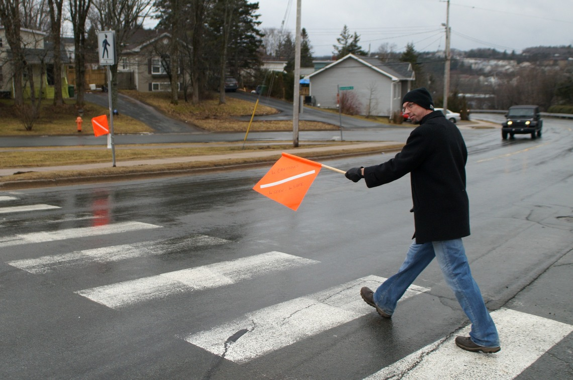 Halifax Ped CRossing Flag